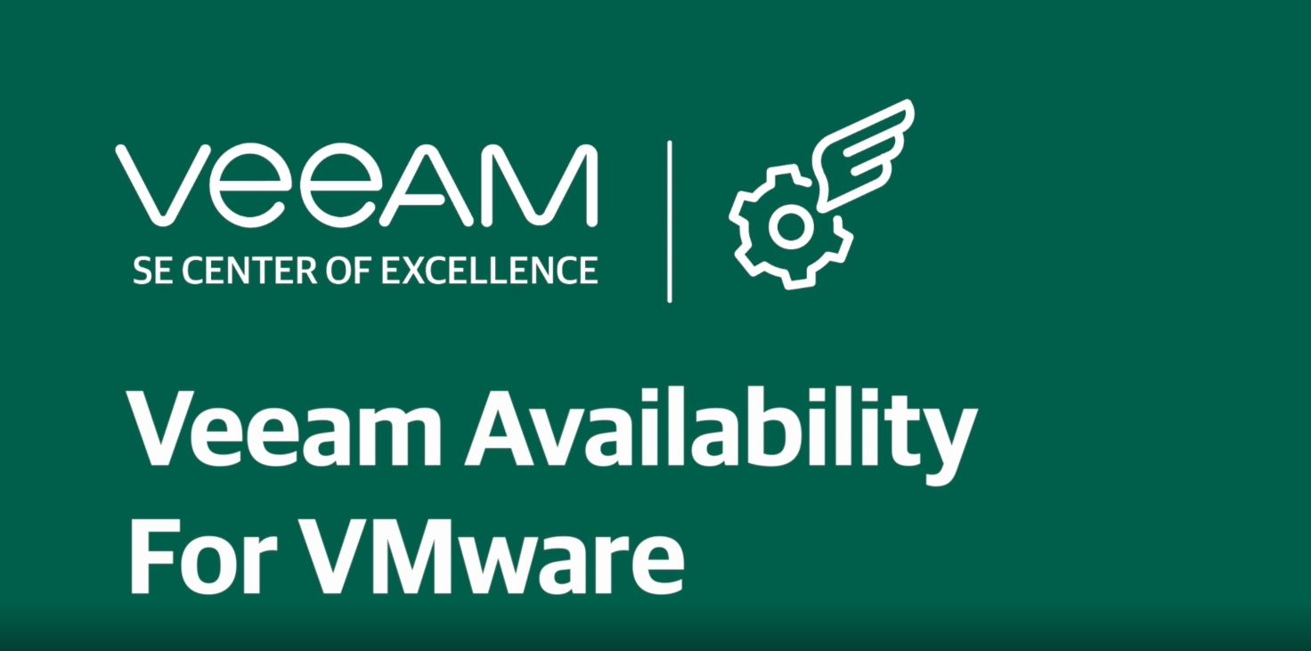 Backup and restore of virtual machines with Veeam Availability for Vmware