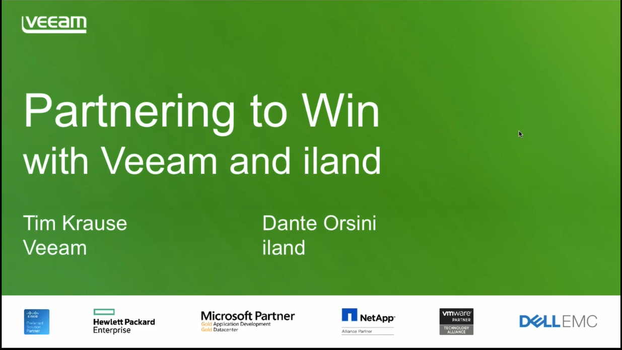 Join Veeam & iland for a webinar on growing your business!