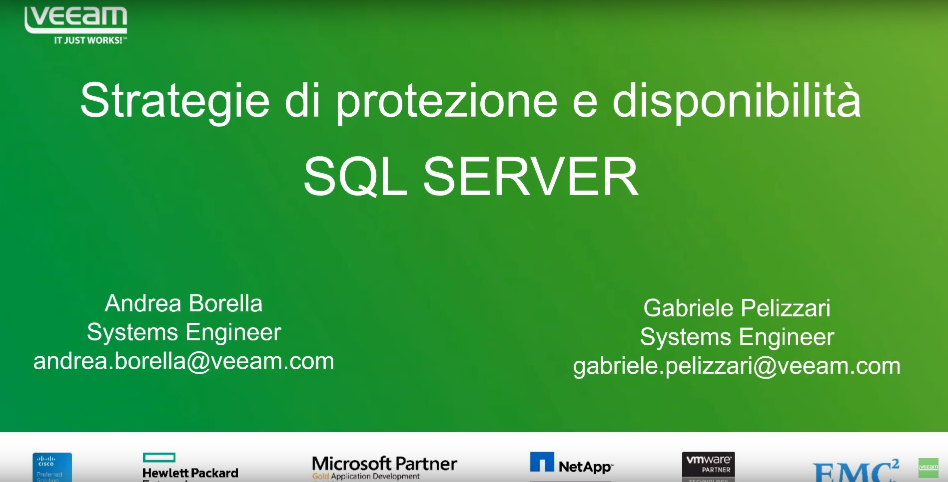 Veeam & Microsoft SQL Server series. Parte 1. Tutti i segreti per un'efficace strategia di protezione e disponibilità