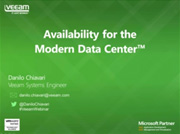 "Veeam presenta ""Availability for the Modern Data Center"""