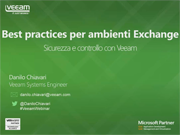 Best Practices di Veeam per ambienti Exchange