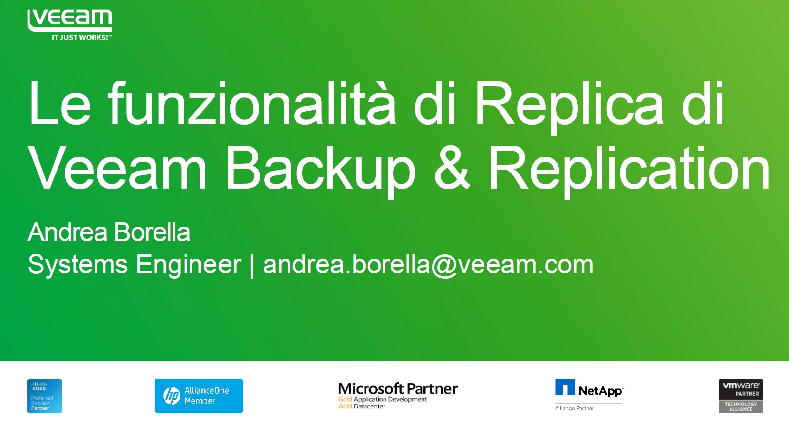 Pausa caffè con Veeam – Le funzionalità di replica di Veeam Backup & Replication e Failover plan
