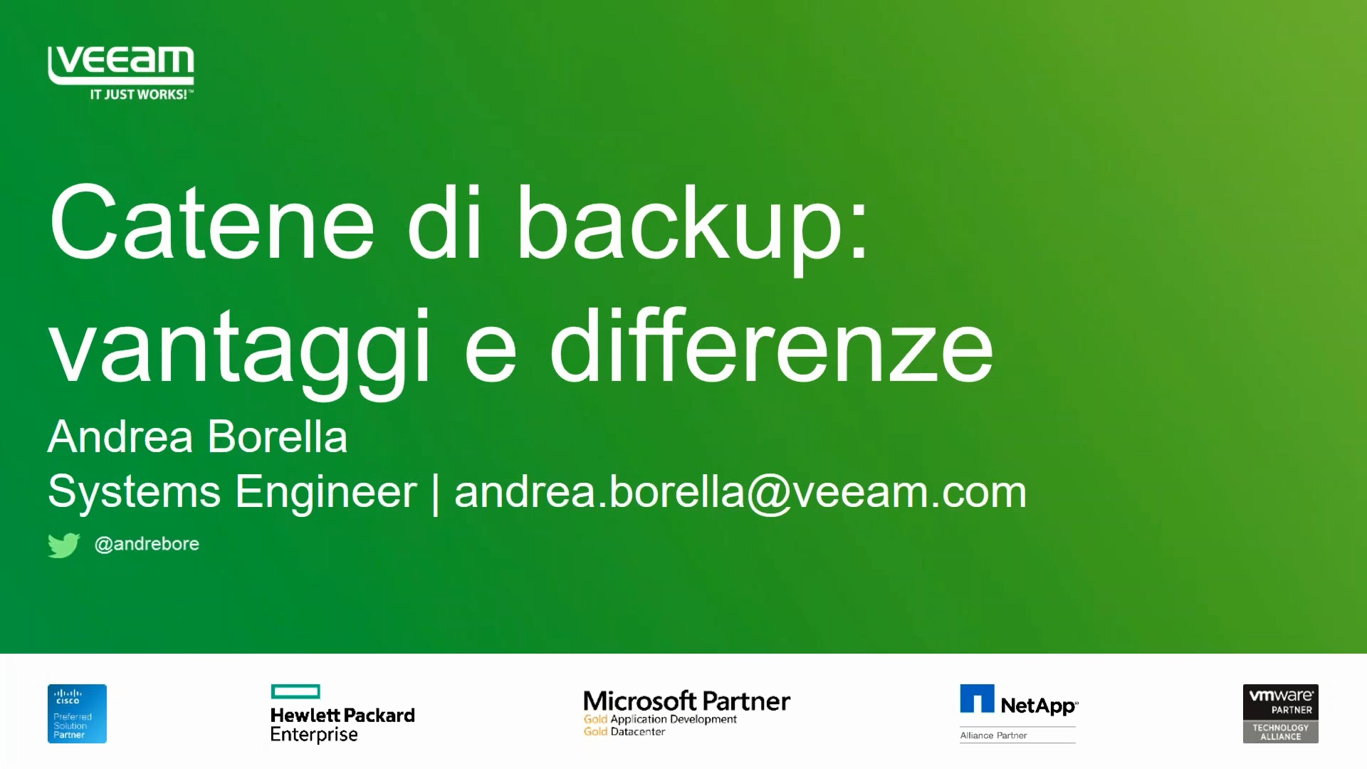 Pausa caffè con Veeam. Catene di backup: vantaggi e differenze