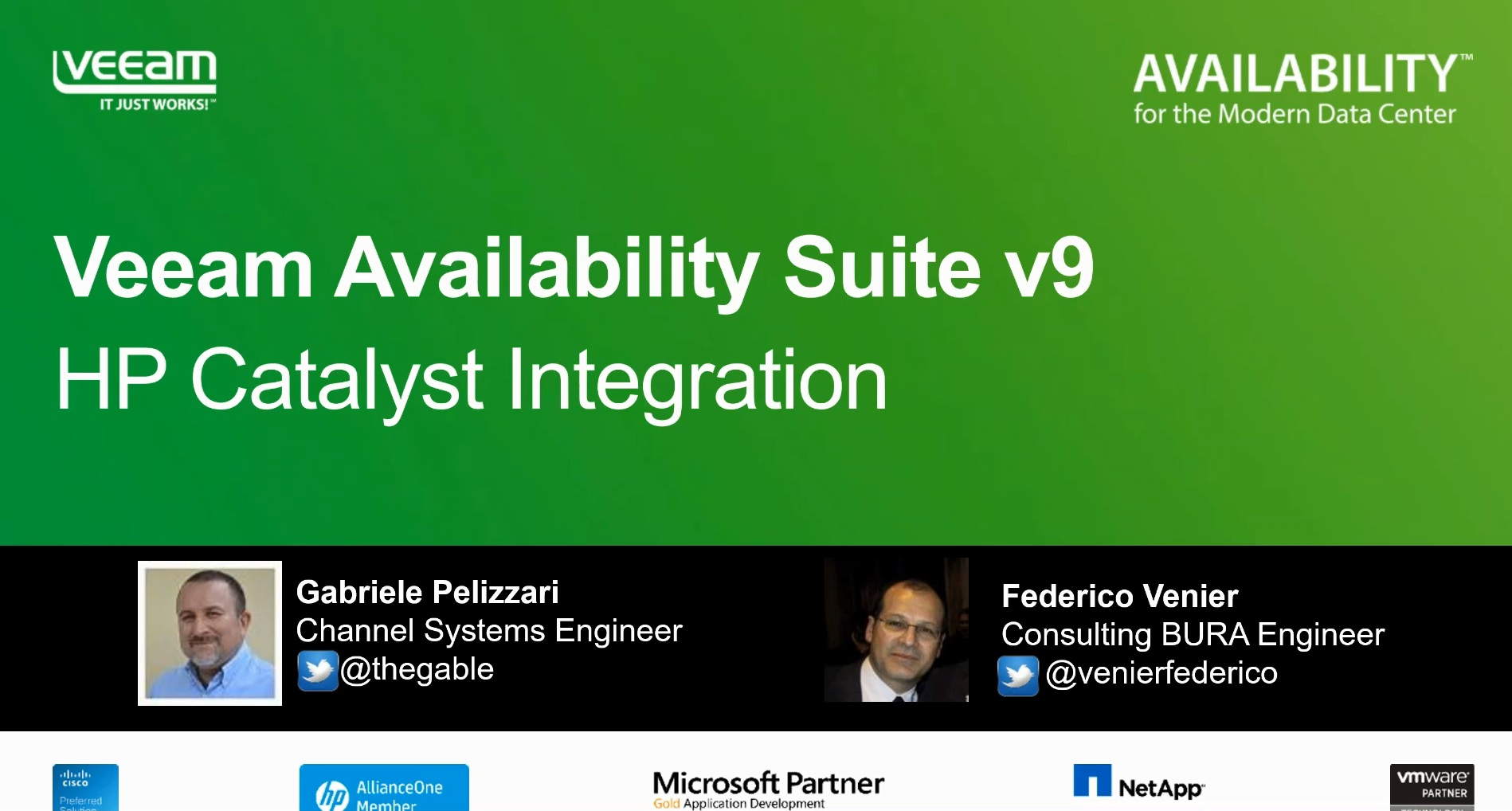 Veeam Availability Suite v9: integrazione con HP StoreOnce Catalyst