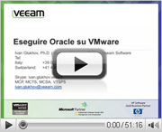 Virtualizzare e proteggere Oracle su VMWare