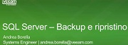 SQL Server – Backup e ripristino