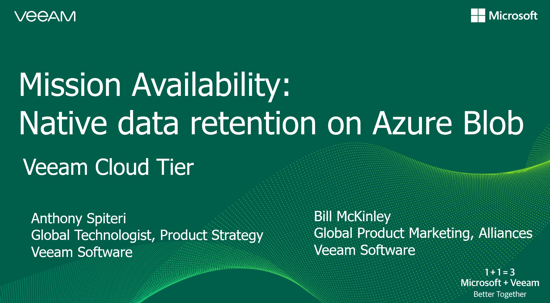 Mission Availability: Native data retention on Azure Blob