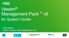 Veeam Management Pack Ürün DEMO'su