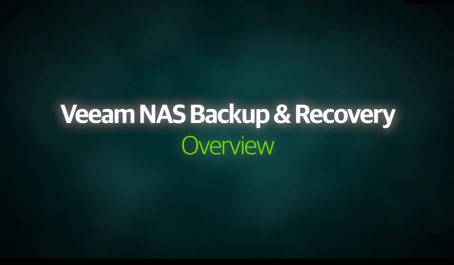 Backup y recuperación de NAS de Veeam: descripción general