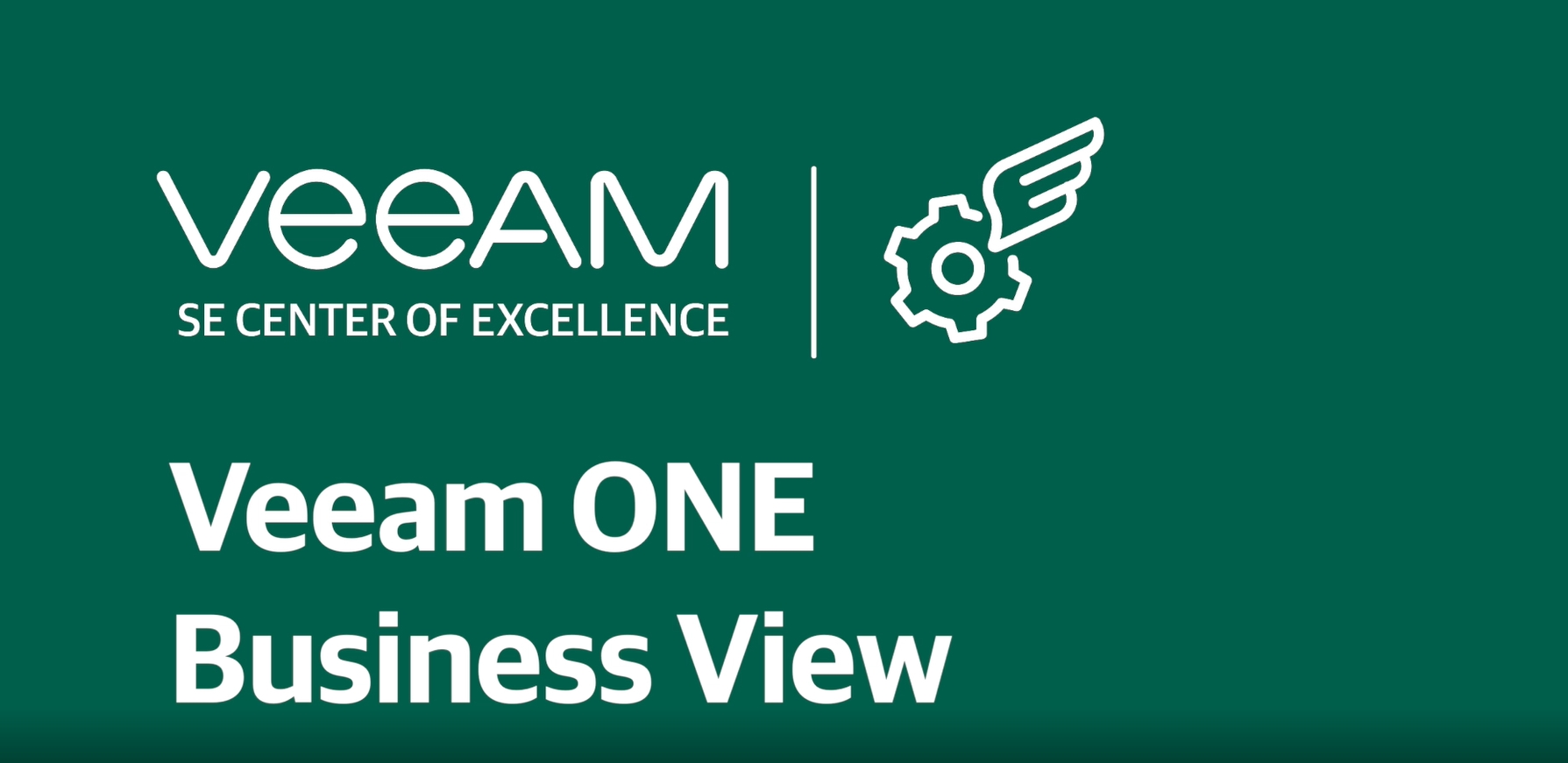 Monitor infrastructure with Veeam ONE Business View