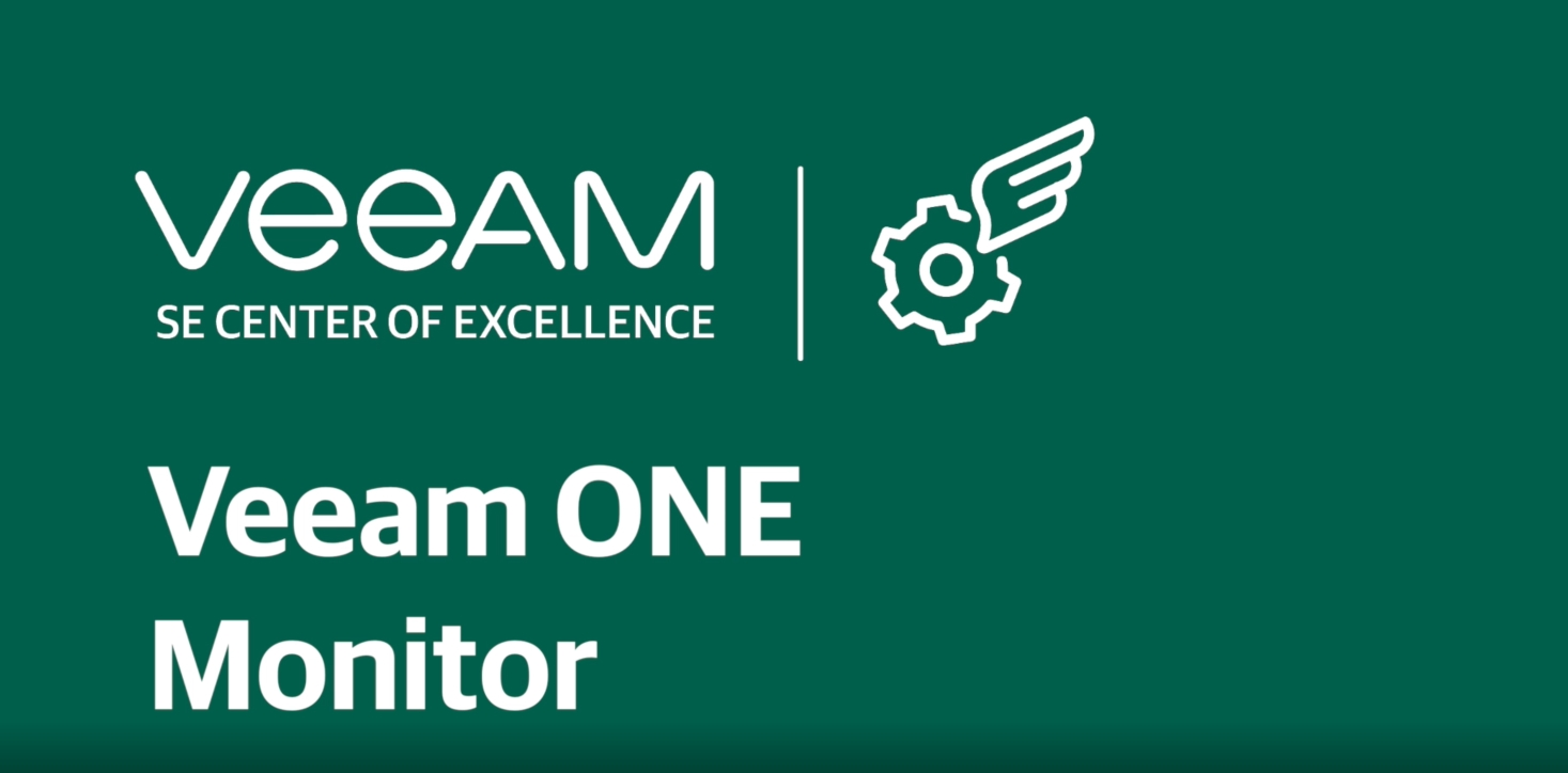 Monitor your data and analyze performance with Veeam ONE Monitor
