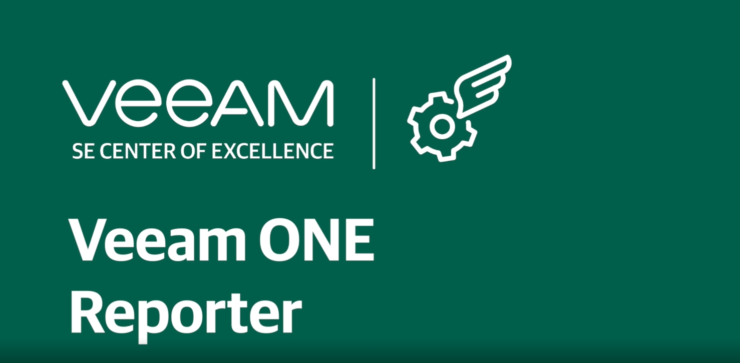 Documenting and reporting with Veeam ONE Reporter