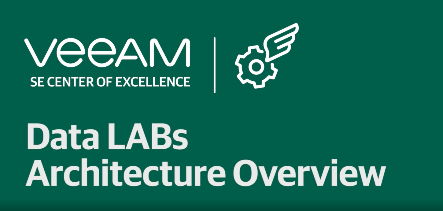 Veeam DataLabs - Architecture Overview
