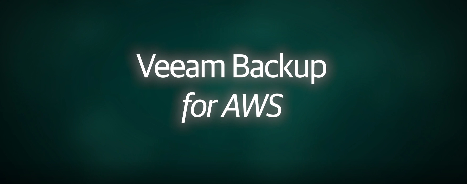 Veeam Backup for AWS — Overview demo