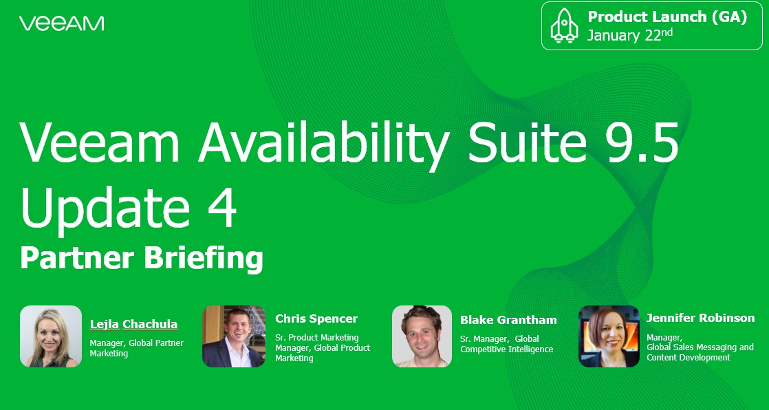 Partner Briefing in APAC: Exclusive product preview of NEW Veeam Availability Suite 9.5 Update 4