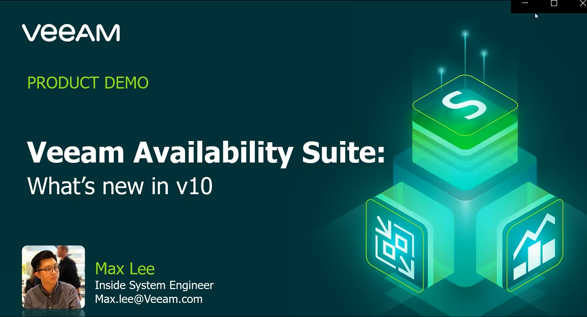 Veeam Availability Suite – What's new in v10 [In Cantonese]