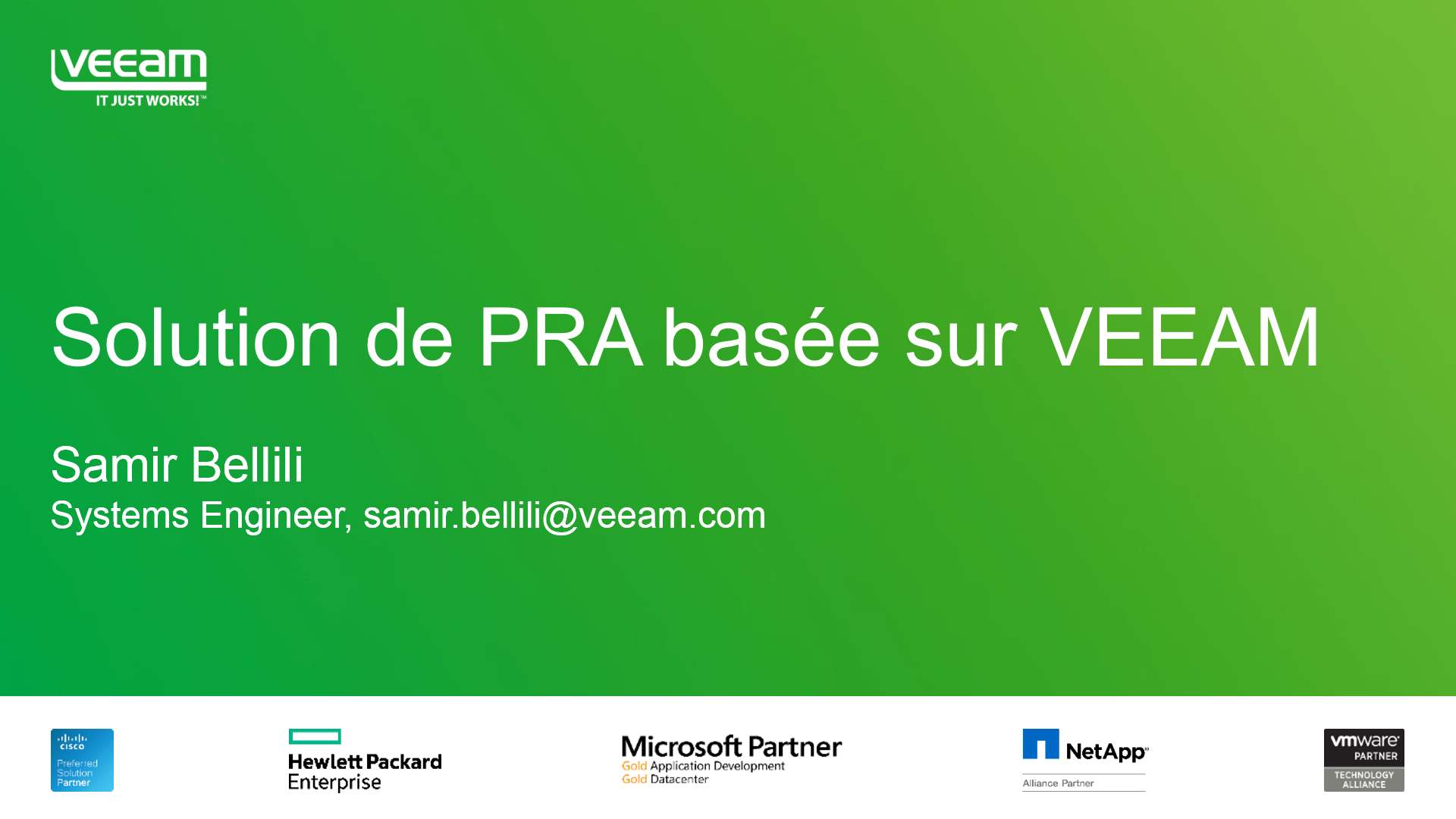 Solution de PRA basée sur Veeam Backup & Replication