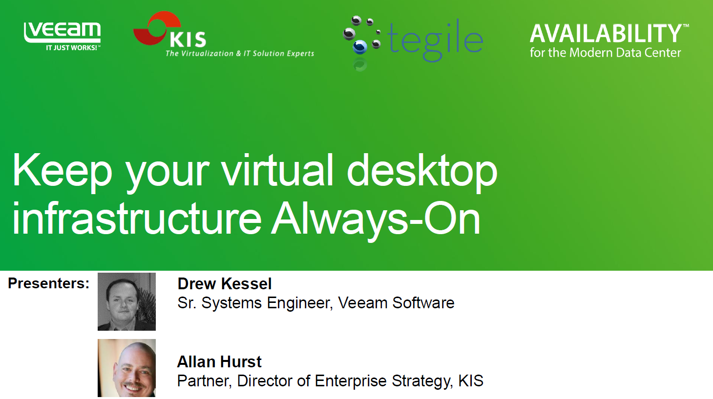 Keep Your Virtual Desktop Infrastructure always available