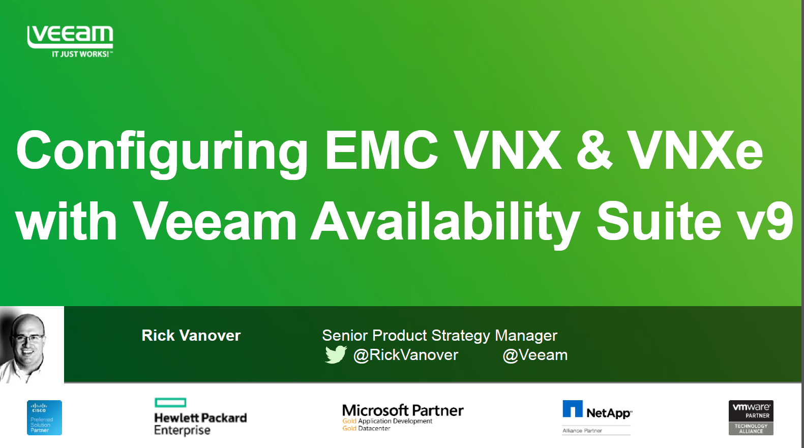 Configuring Dell EMC VNX and VNXe with Veeam
