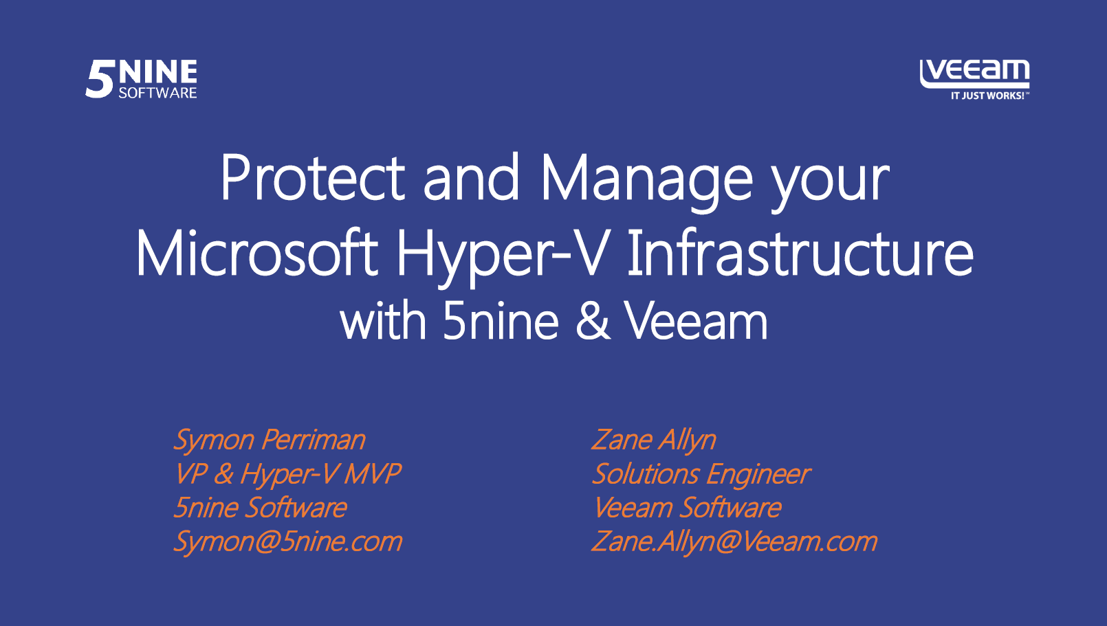 Protect and Manage your Microsoft Hyper-V Infrastructure with 5nine & Veeam