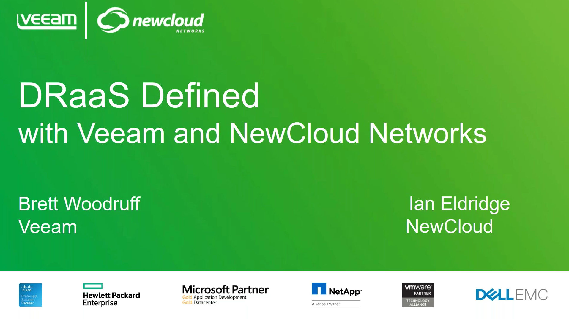 Join Veeam & NewCloud Networks to discuss the future of DRaaS