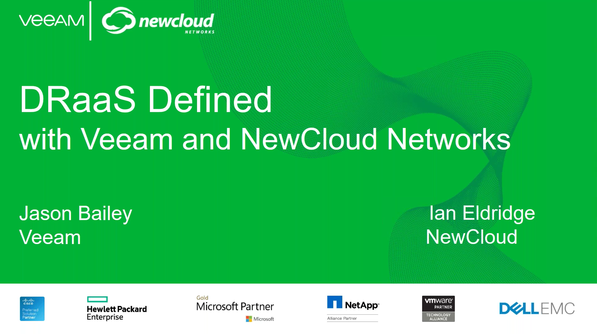 Learn the future of DRaaS with Veeam & NewCloud