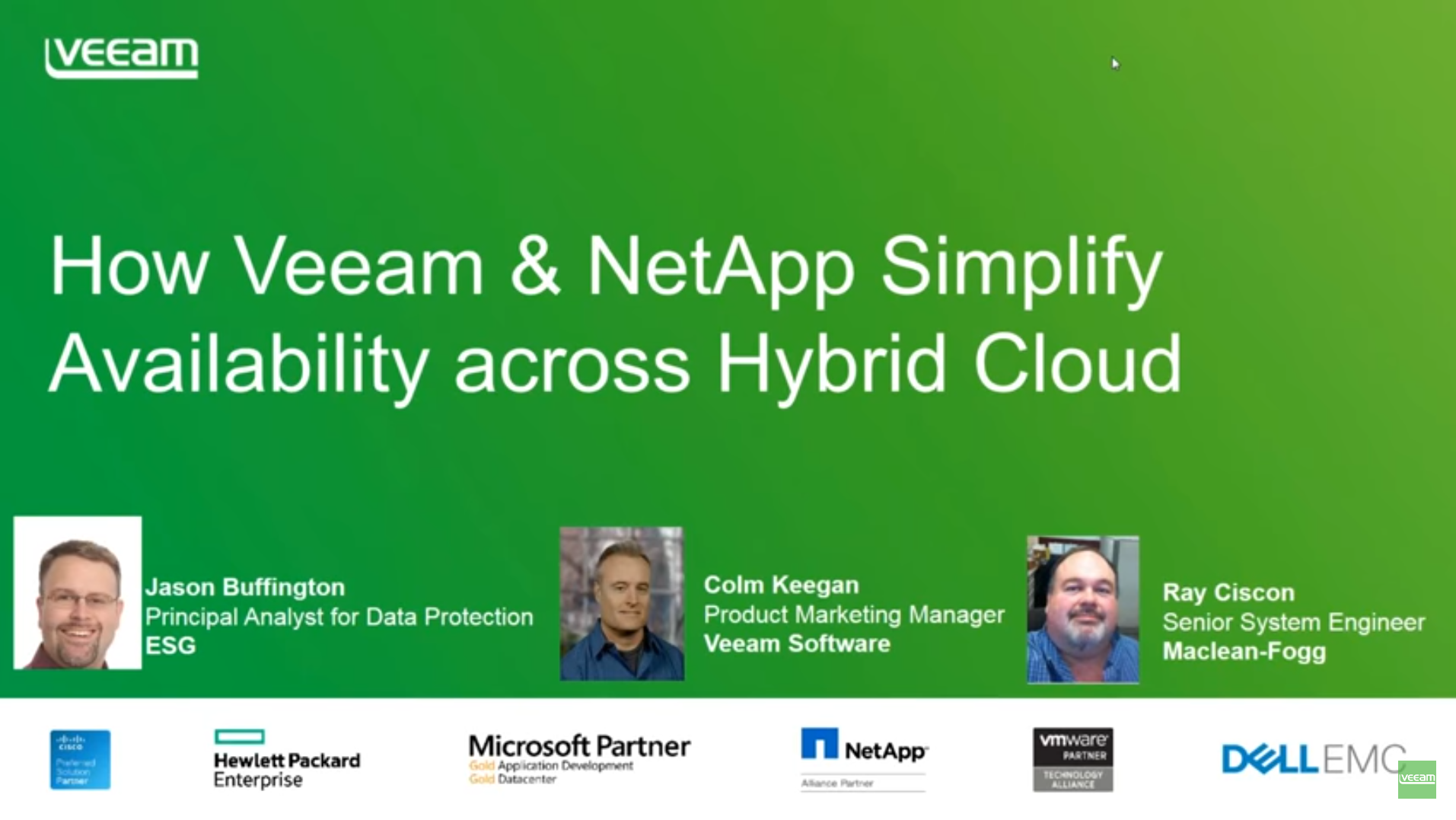 Veeam & Netapp: How to simplify hybrid cloud availability