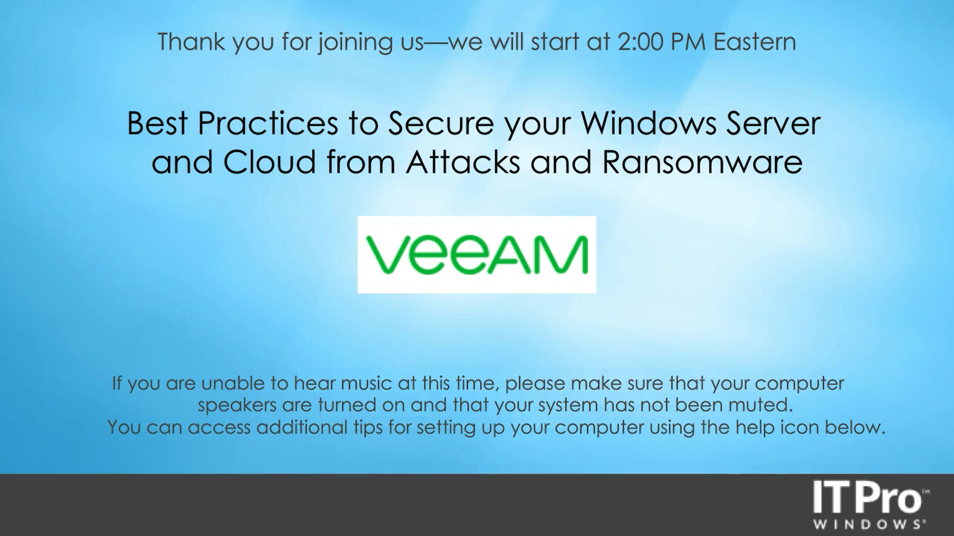 Ransomware Resiliency, Recoverability and Availability with Veeam