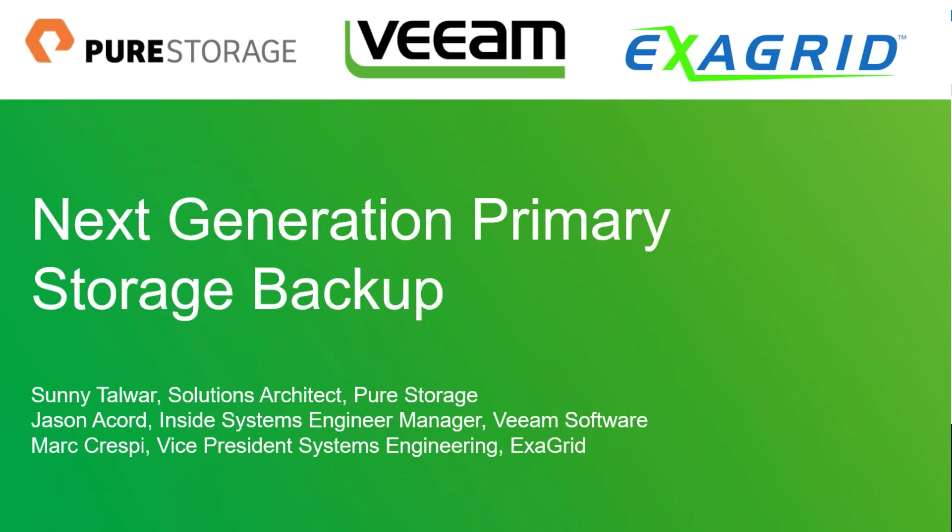 Next generation primary storage and backup