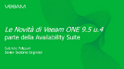 Le Novità di Veeam ONE 9.5 u.4 parte della Availability Suite