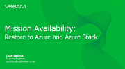 Mission Availability: Restaura a Azure y Azure Stack en 2 pasos