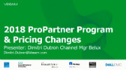 Veeam ProPartner Briefing Q1 2018 on our way to $1Bln (Belux)