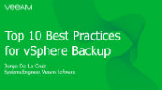 The Top 10 Best Practices for vSphere Backup