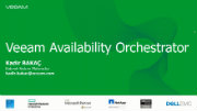YENİ Veeam Availability Orchestrator