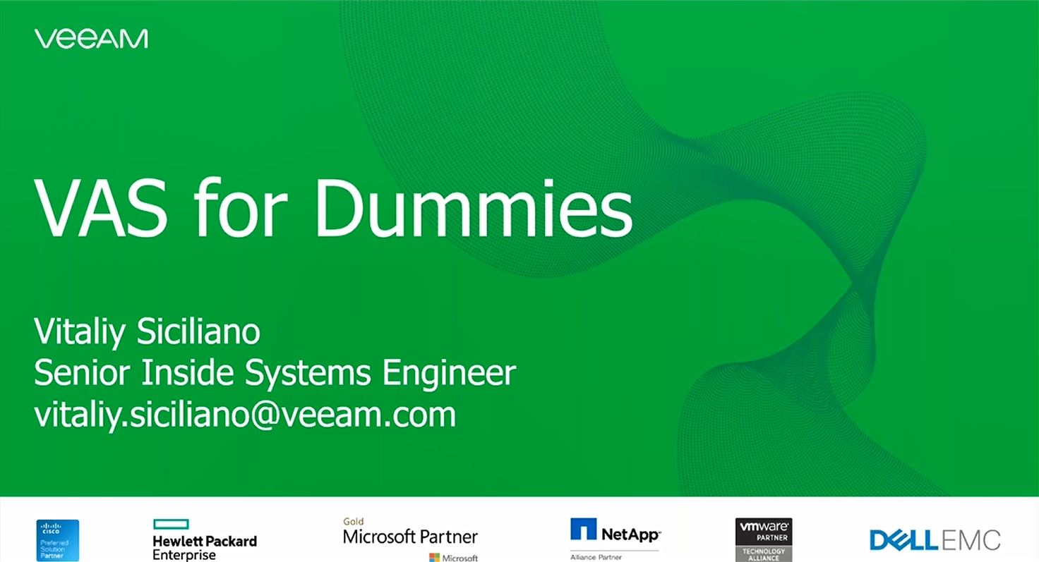 Veeam Availability Suite per principianti