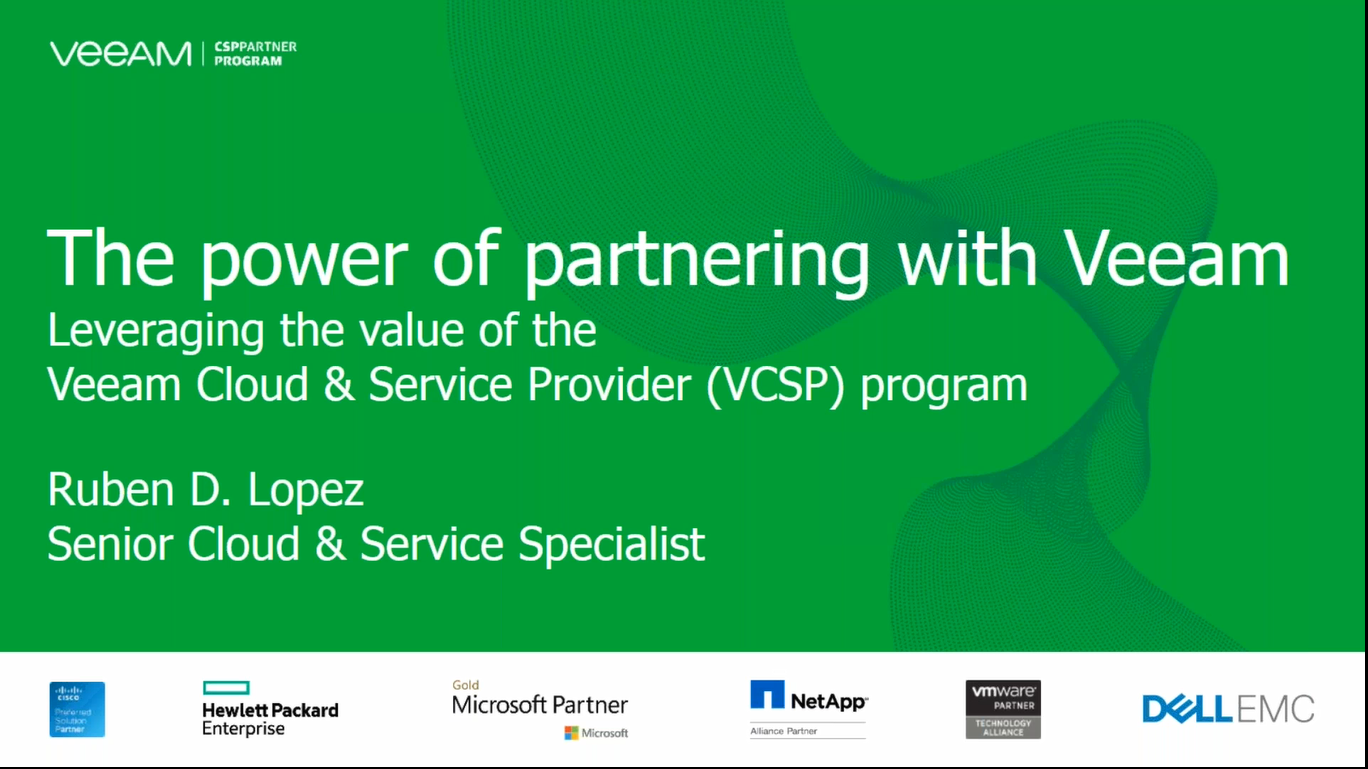 Veeam VCSP Enablement Series