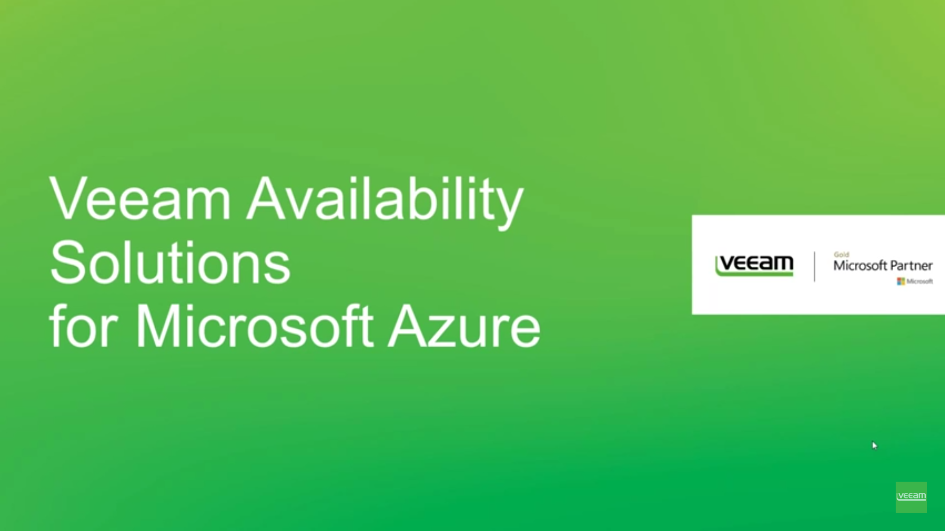 Hybrid Cloud Solutions from Veeam and Microsoft Azure
