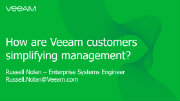 How can Veeam simplify your data management?