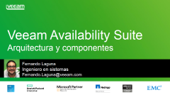Veeam Availability Suite v9: Arquitectura y Componentes
