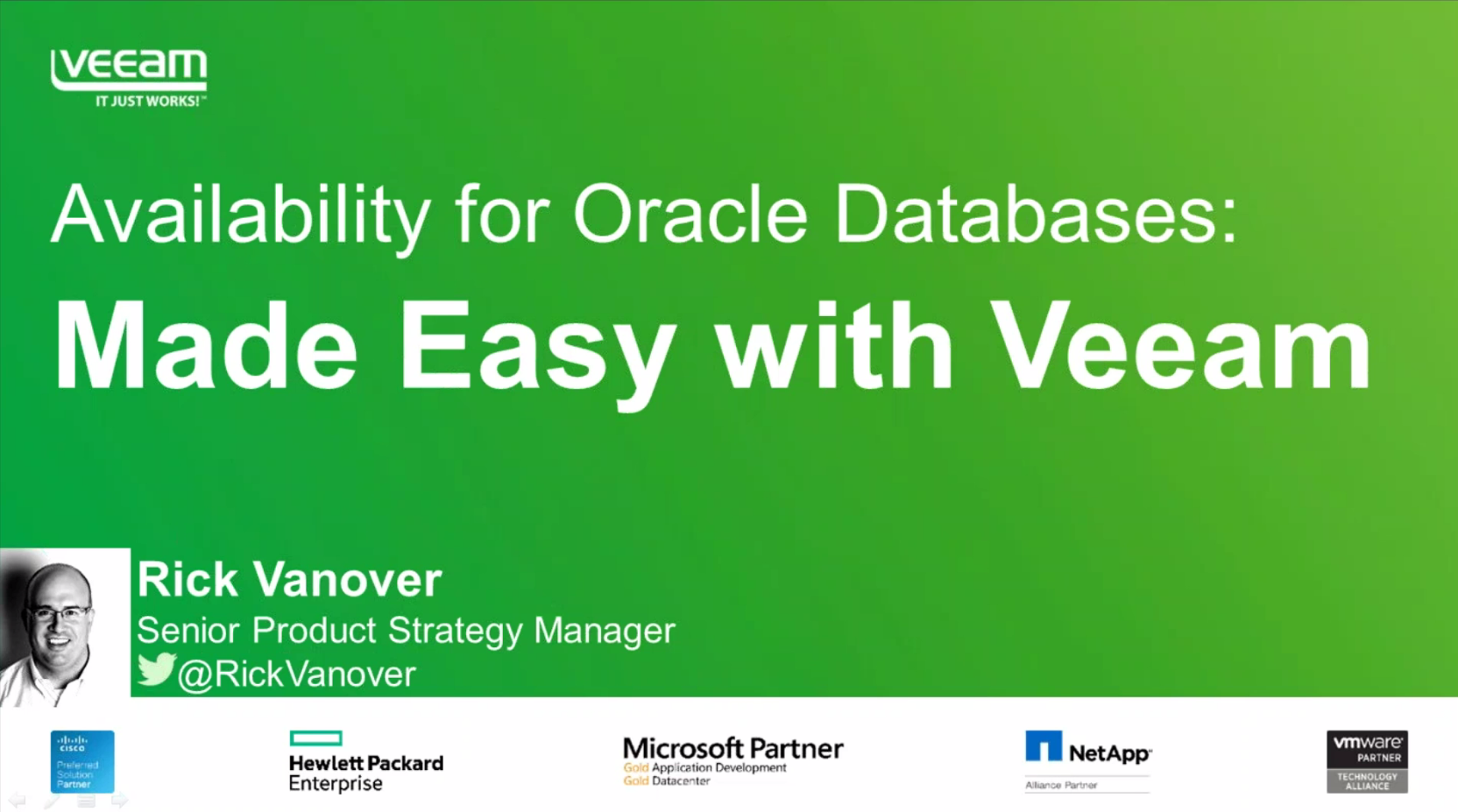 Advanced Availability for Oracle Databases: Made easy with Veeam