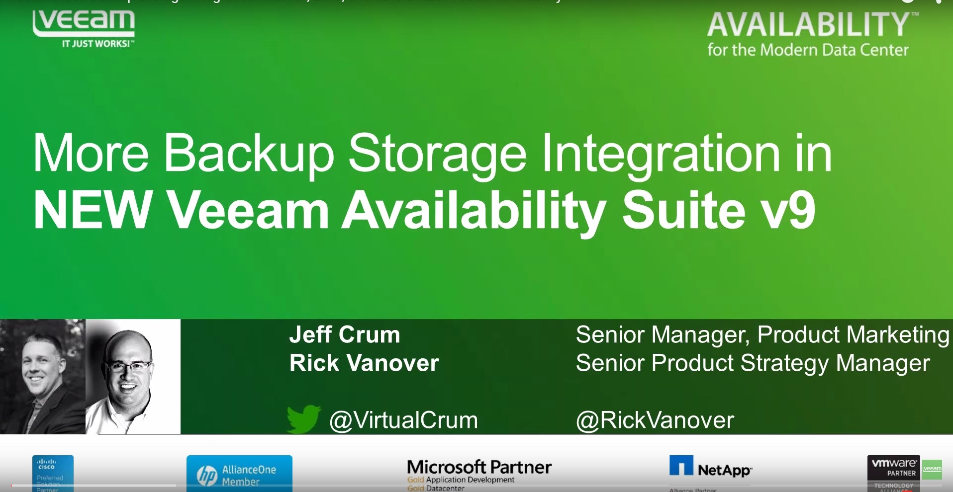 Veeam Adds Backup Storage Integration with HPE, Dell EMC, and others - Veeam Availability Suite