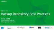 Backup Repository Best Practices : Edition 2017