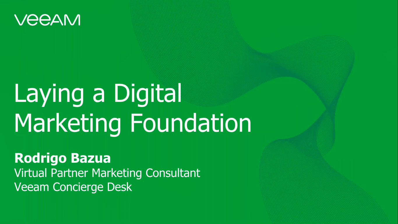Laying a digital marketing foundation with Veeam