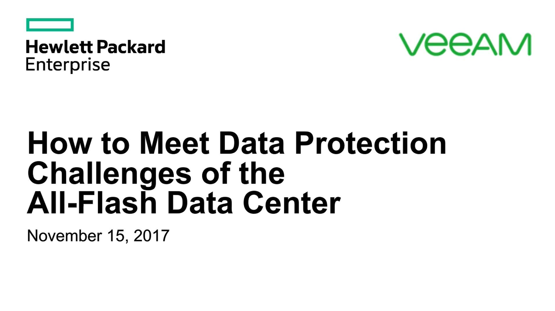 How to Meet Data Protection Challenges of the All-Flash Data Center