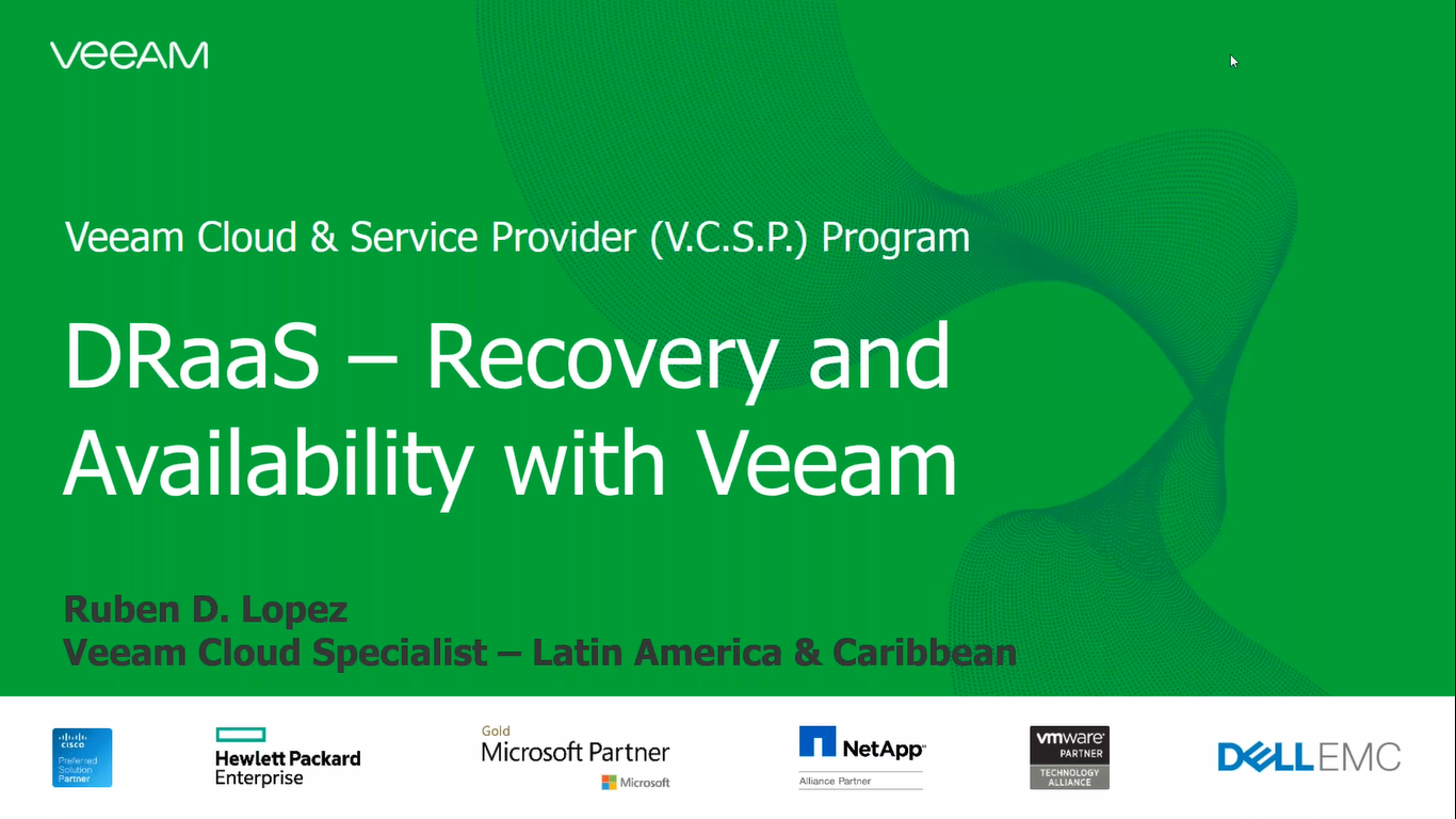 DRaaS, recoverability and Availability with Veeam