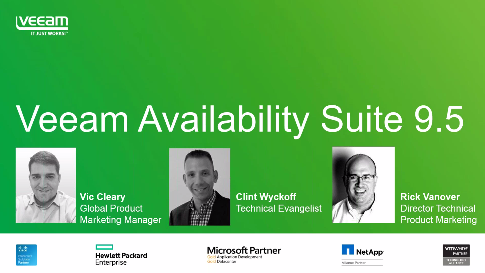 NEW Veeam Availability Suite 9.5 Feature Overview