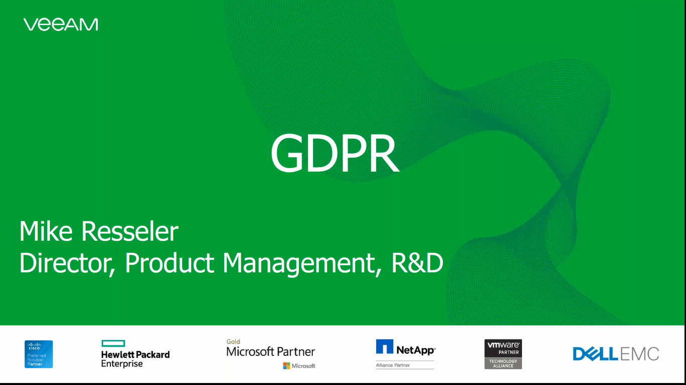 Avoiding GDPR Penalties – 5 Key Principles. Veeam Compliancy Experience Shared