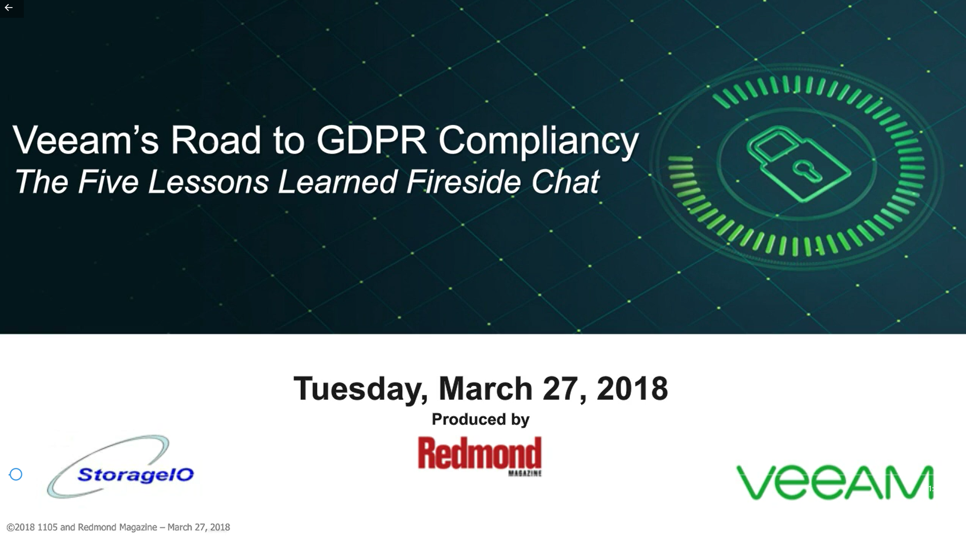 Veeam's Road to GDPR Compliancy – The 5 Lessons Learned