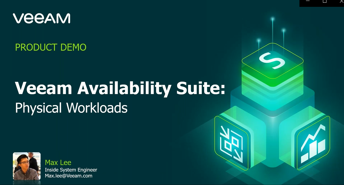 Veeam Availability Suite – Physical Workloads [In Cantonese]