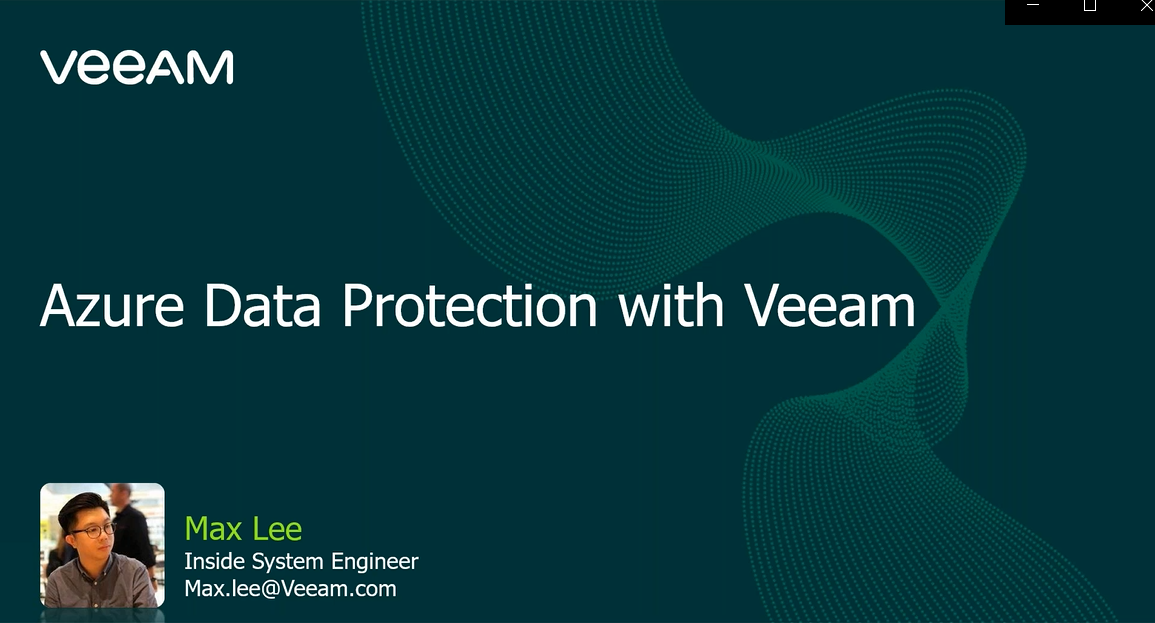 Azure-native Backup with Veeam [In Cantonese]